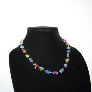 Vintagejelyfish Jewelry - Beautiful colorful shell beaded necklace adjust.